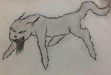 Demon dog...kinda by thescoutisout