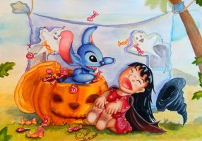 Lilo and Stitch - Trick and Treat by Rilans-Fluff