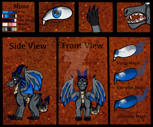 Mona (New) Reference Sheet by Haerth