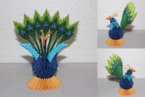Modular Origami Peacock 1 by Jadest