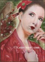 The Nightingale ACEO by Katerina-Art