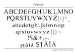 Friends font by FL0RINF