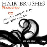 Photoshop HAIR brushes pack 02 by gorjuss-stock