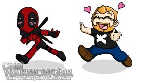 Jesse Cox and Fem Deadpool! by Chibi-Warmonger