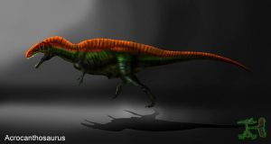 Acrocanthosaurus attempt by IEHawesomesauce