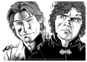 GOT: Jamie + Tyrion by Silent-Neutral
