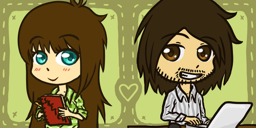 Chibi Icons for me and my Boyfriend by Lauzi