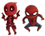 Chibi Stamp Marvel Heroes by Moonzetter