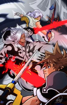 Battle with Xemnas by MichaelMayne