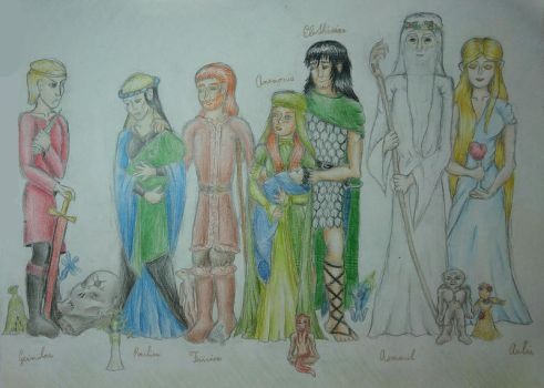 The story of Anemonis - characters by romenriel