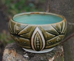 Carved Porcelain Bowl by ForeverTuesday
