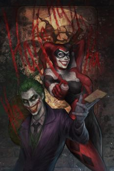 Joker and Harley by jasric