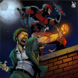 Daredevil and Iron Fist by hulkred