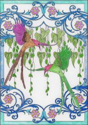 Hummingbirds by WiccaSmurf