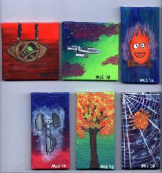 Second Collection of tiny canvases by dragondoodle