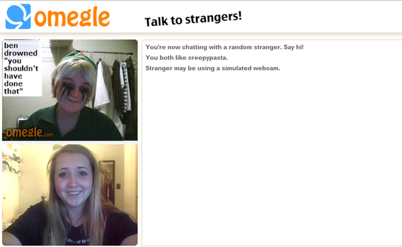 BEN drowned on Omegle! by Kuppicake