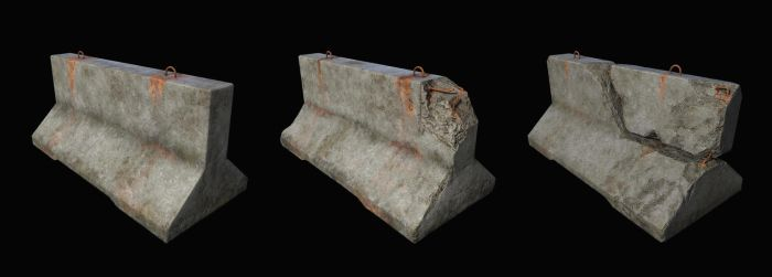 Concrete barricade by Nikola3D