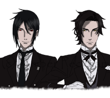Sebastian and Claude WIP 2 by The-Bone-Snatcher