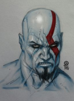 Kratos Sketch by DanielDahl