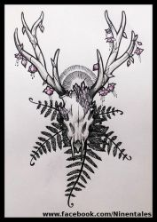 Deer tattoo concept by DaSava