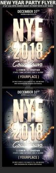 New Year Celebration Party Flyer Template by Hotpindesigns
