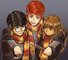 The Golden Trio by allarica