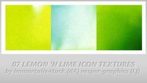 7 Lemon 'n Lime Icon Textures by immortalis-stock