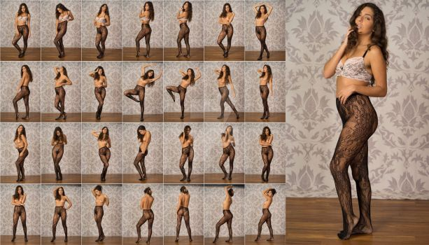 Stock: Mona Designer Fishnet Standting - 29 Images by stockphotosource