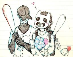 The Batter and Zacharie by Xmased