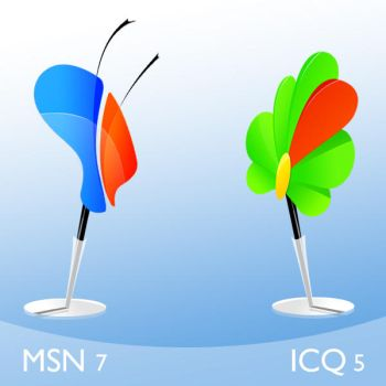 Msn and ICQ by CallMeWhatEver