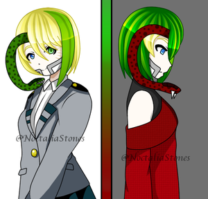 [BnHA OC] One girl, two versions by NoctaliaStones