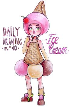 Daily Drawing 10. Ice Cream by SophieHei