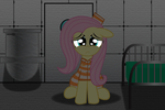 Inmate Fluttershy Remake by SpellboundCanvas