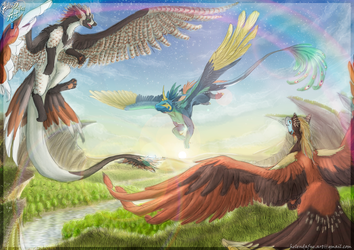 Commission Speedpainting - Let's Play Catch by HelenDafneART