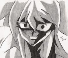 Bakura's Creepy Grin by BloodlustBakura