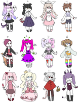 Adoptables 10 Points Each  [ open ] by ryoutaaaa