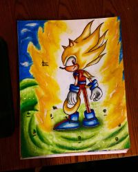 Super sonic the hedgehog  by xprotector10
