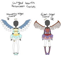Winged Hearts - Premium rare Halloween coords by Mocha-Addict