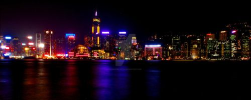 night scene, HK by frosted-witch