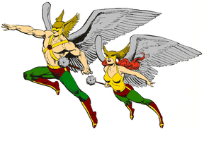 Hawkman and Hawkgirl by Vampirewiccan