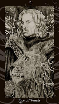 HP Tarot - Ace of Wands by Ellygator