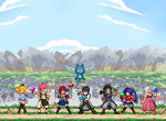 Sagebros Chronicles project (9) Fairy Tail Team by RockMan6493