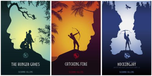 Hunger Games Books Cover by sanjota