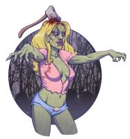 color version of zombie lady by ccicconi