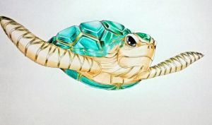 Emerald Turtle by JasonAvenger23