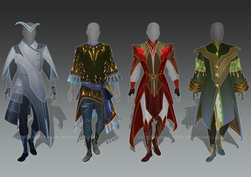 (CLOSED) - Male Outfit Adoptable Set #012 by Timothy-Henri