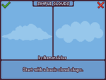 Pixel Art Clouds Tutorial [animated gif] by aamatniekss