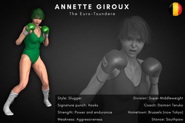 Fighter Card II: Annette Giroux By Alesiaboxing by KiraYamato74