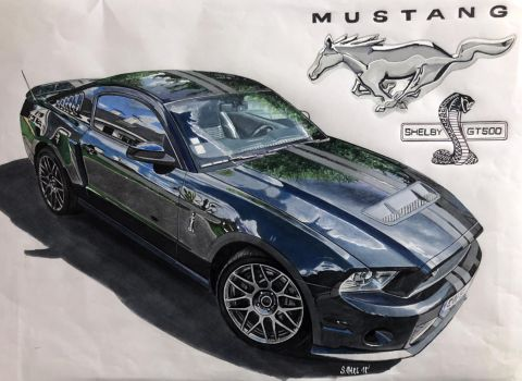 MUSTANG SHELBY GT 500 by Stephen59300