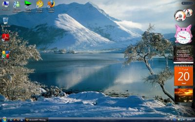 Winter Spirit Desktop by Animai-art